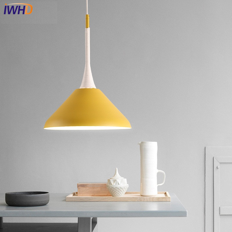 IWHD Fashion Wood Iron Droplight Modern LED Pendant Light Fixtures For Living Dining Room Bar Hanging Lamp Indoor Lighting iwhd 3 heads iron hang lights led pendant light fixtures fashion wood modern pendant lamp kitchen bedroom e27 220v for decor