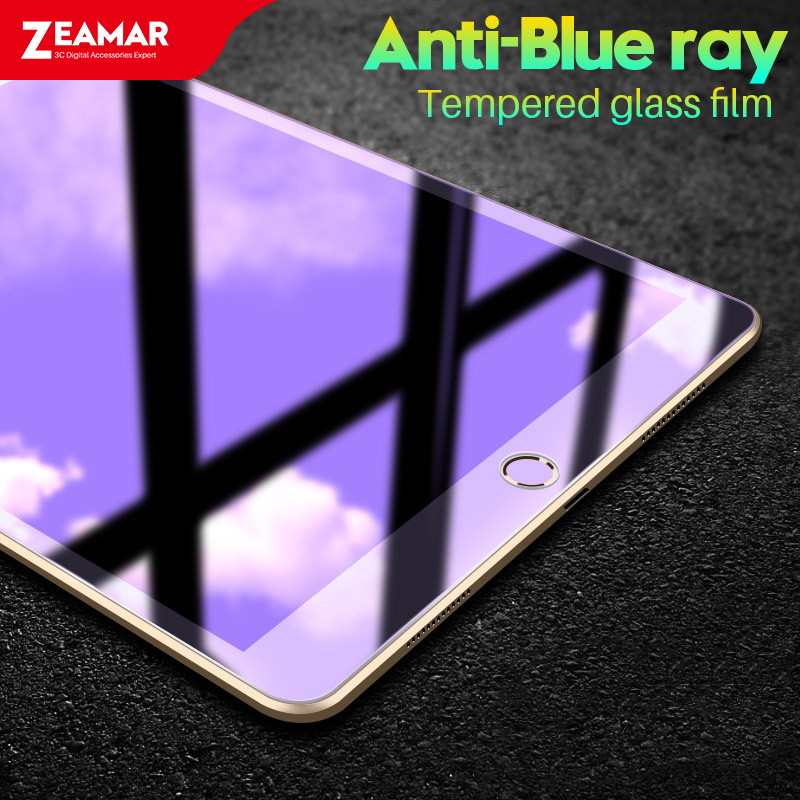 Anti blue rays Glass For Apple iPad 2018 2017 9.7 inch Glass For iPad Air 1 2 Screen Protector For iPad 2 3 4 9H Tempered Glass