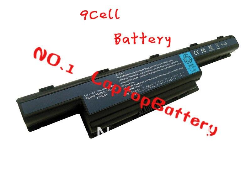 Baterias de 9 CÉLULAS laptop PARA gateway 4741G 5750G 5741G 7551 5735 5542G 7741Z 7750ZG 5741 TM5742 TM5740 TM8572T 7750 8472 7572G