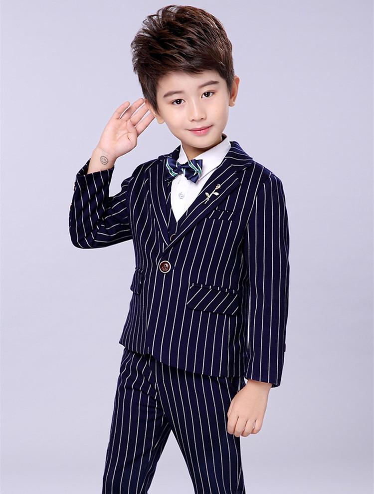 dac8b732ada9 children clothing big boy clothes sets Boy spring suit plaid blazer ...