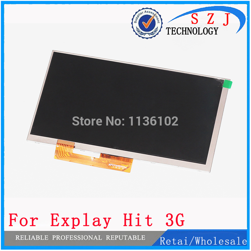 New 7'' inch LCD display Matrix For Explay Hit 3G Tablet inner TFT LCD Screen Panel Lens Module Glass Replacement Free shipping new 7 inch lcd display for matrix explay tornado 3g tablet pc lcd screen panel inner module replacement free shipping