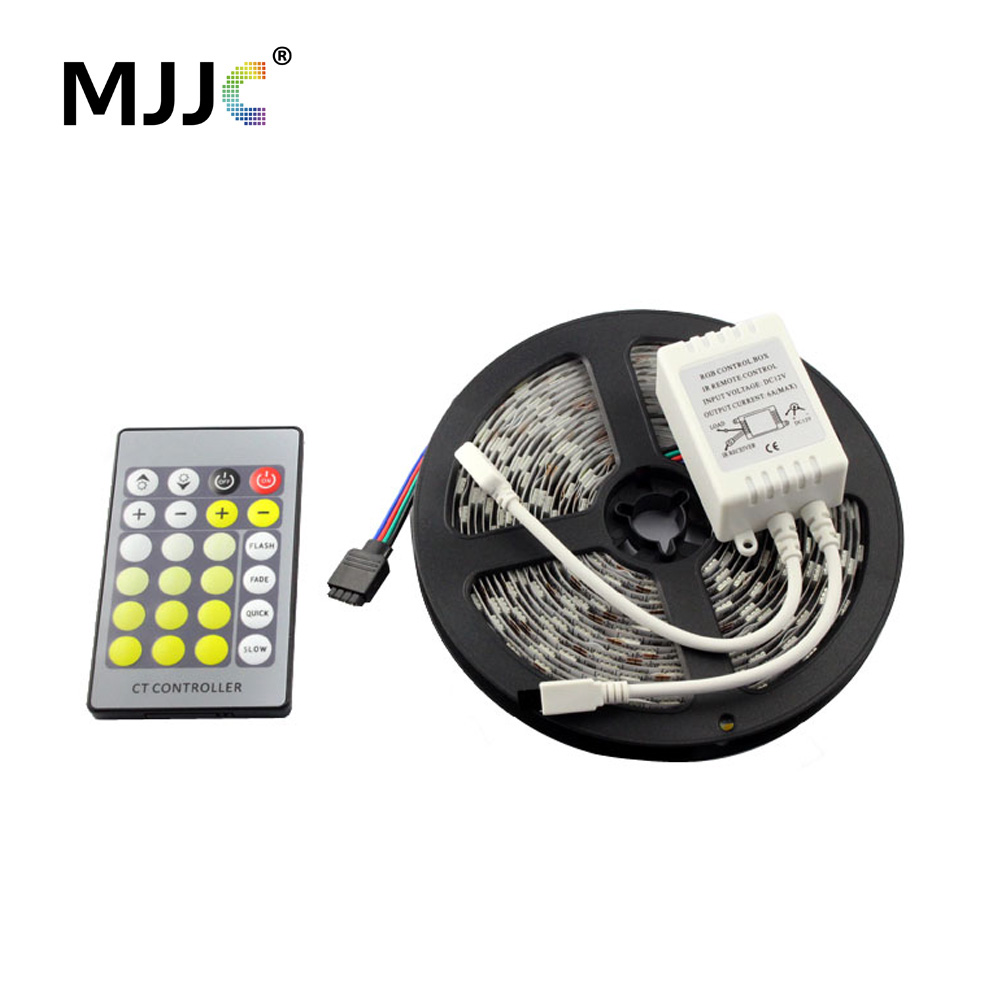 5M 300 LED Strip Light Dimmable 12V DC Warm to Cool White CCT Adjustable Flexible LED Light Strip Kit for Indoor Home Lighting