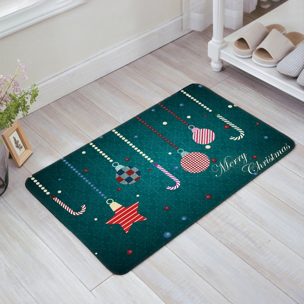 Classical Christmas Ornaments Merry Christmas Doormat