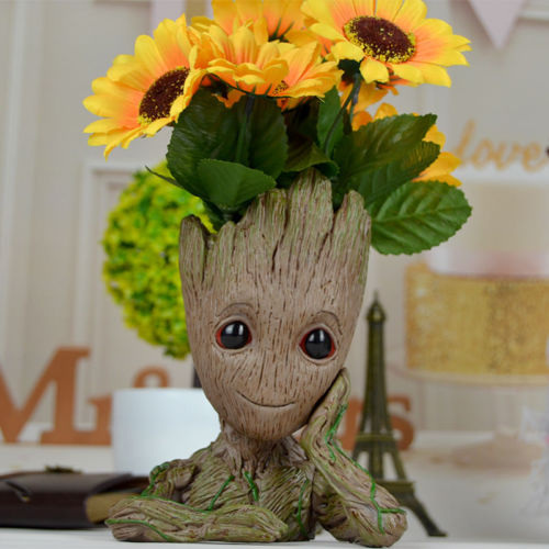 Man Genuine Figure Flower pot Style Toy Gift Hot Sale Anime Figure Collectible Model Toy
