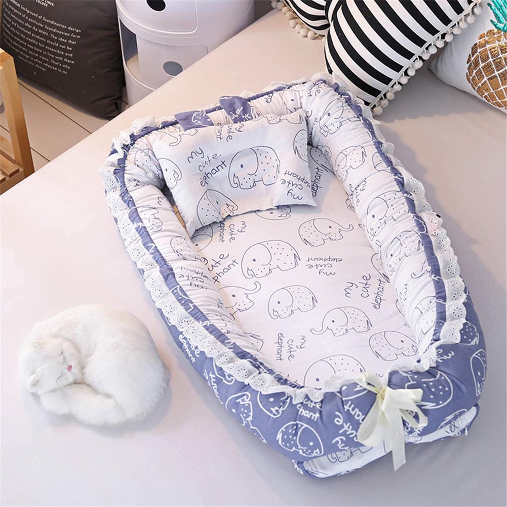 Baby Bed Cartoon Printing Bionic Bed Washable Portable Baby Small Bed Multi function Travel Newborn Soft Mattress-in Baby Cribs from Mother & Kids    2