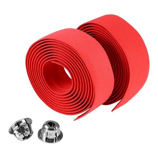 Soft Foam Cycling Road Bike Bicycle Handlebar Tape Belt Reflective Grip Wrap Anti-Slip Anti-Sweat Strap With 2 Bar Plugs 1