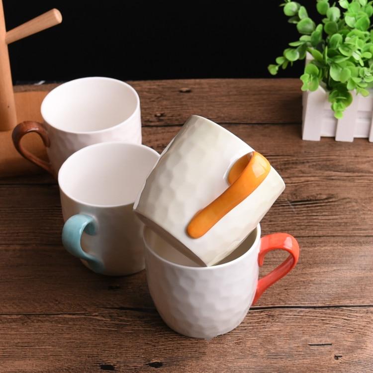 4 шт. кружка костюм новый свежий искусство и творческие керамика для внутреннего деревянная рамка прекрасная пара стакана воды кофейная кру... - 5