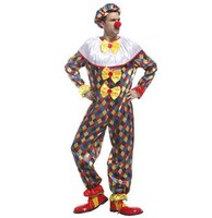 Clown Costumes For Adults Circus Clown Halloween Clown For Men Cosplay Joker Costume Funny Men Costumes