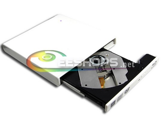 External USB Blu-ray Burner 6X 3D BD-RE Dual Layer DL Writer Optical Drive Piano White for Samsung Acer Netbook Ultrabook Case