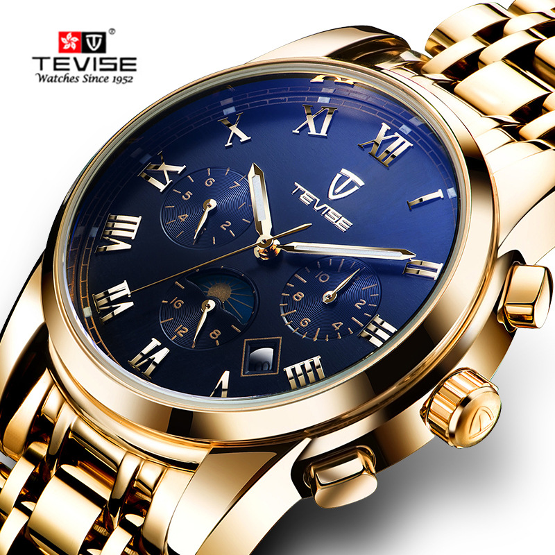 Tevise Luxury Brand Watch Mechanical Watch Men Business Multicolo Wristwatches Automatic Watches Men Clock Relogio Masculino orkina luxury brand watch men mechanical watches date display business wristwatches gift for men relojes clock