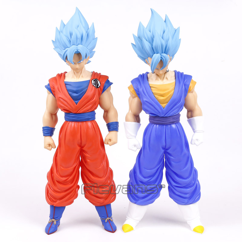 Dragon Ball Z Resurrection F Blue Hair Son Gokou Vegetto PVC Action Figure Collectible Model Toy Big Size 41cm 16cm anime dragon ball z goku action figure son gokou shfiguarts super saiyan god resurrection f model doll