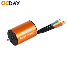 1pcs  OCDAY 1:10 B3650 3900KV 5200KV 4P Sensorless Brushless Motor CNC for 1/10 RC Car