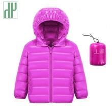 цена на HH 1-14Y Children's down jacket snow wear jacket for girls Infant baby boy outerwear teenage jackets Hooded kids winter coats