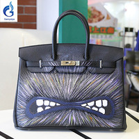 TOP New Design Brand Women Platinum Bags Hand Painted Graffiti Bag High Quality Birk Bags Woman