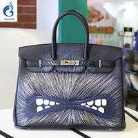 TOP New Design Brand Women Platinum Bags Hand Painted Graffiti Bag High Quality Birk Bags Woman