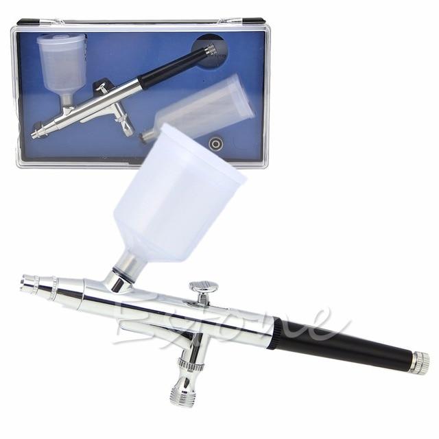 U119   Dual Action Gravity Feed Airbrush 0.3mm Gun Spray Cake Chromatically Tattoo Tool