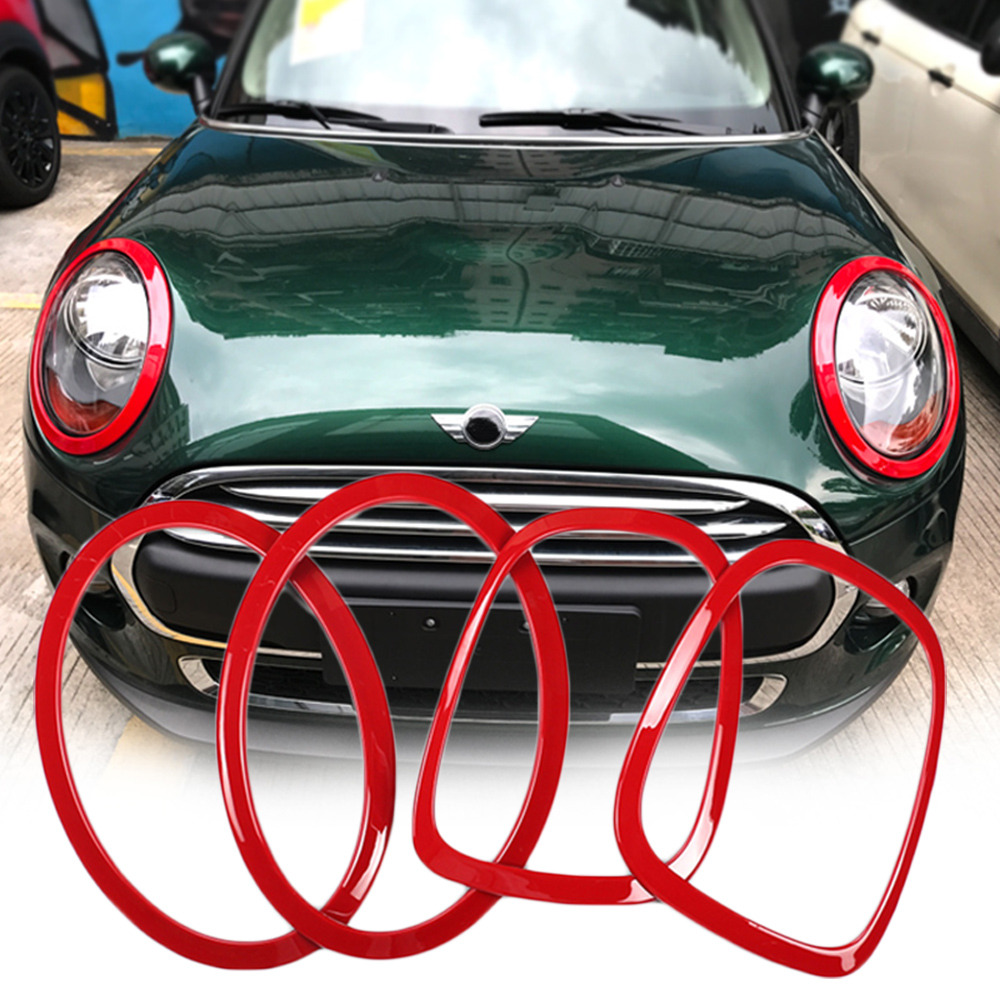 Car Headlight Head Tail Rear Lamps Frame Ring Covers Stickers Housing For Mini Cooper One JCW F55 F56 Car-styling Accessories