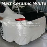 Car Styling Chrome Perla In Ceramica Bianco pellicola Del Vinile per car wrapping Pearl matte raso bianco con Il Formato: 10/20/30/40/50/60x152 cm