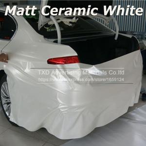 Image 1 - רכב סטיילינג כרום פרל קרמיקה לבן ויניל לרכב גלישת פרל מט לבן סאטן סרט עם גודל: 10/20/30/40/50/60x152cm