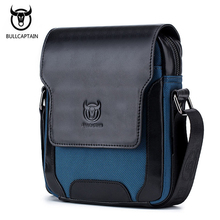 BULLCAPTAIN Cow Leather Men Bag Vintage Style Men's