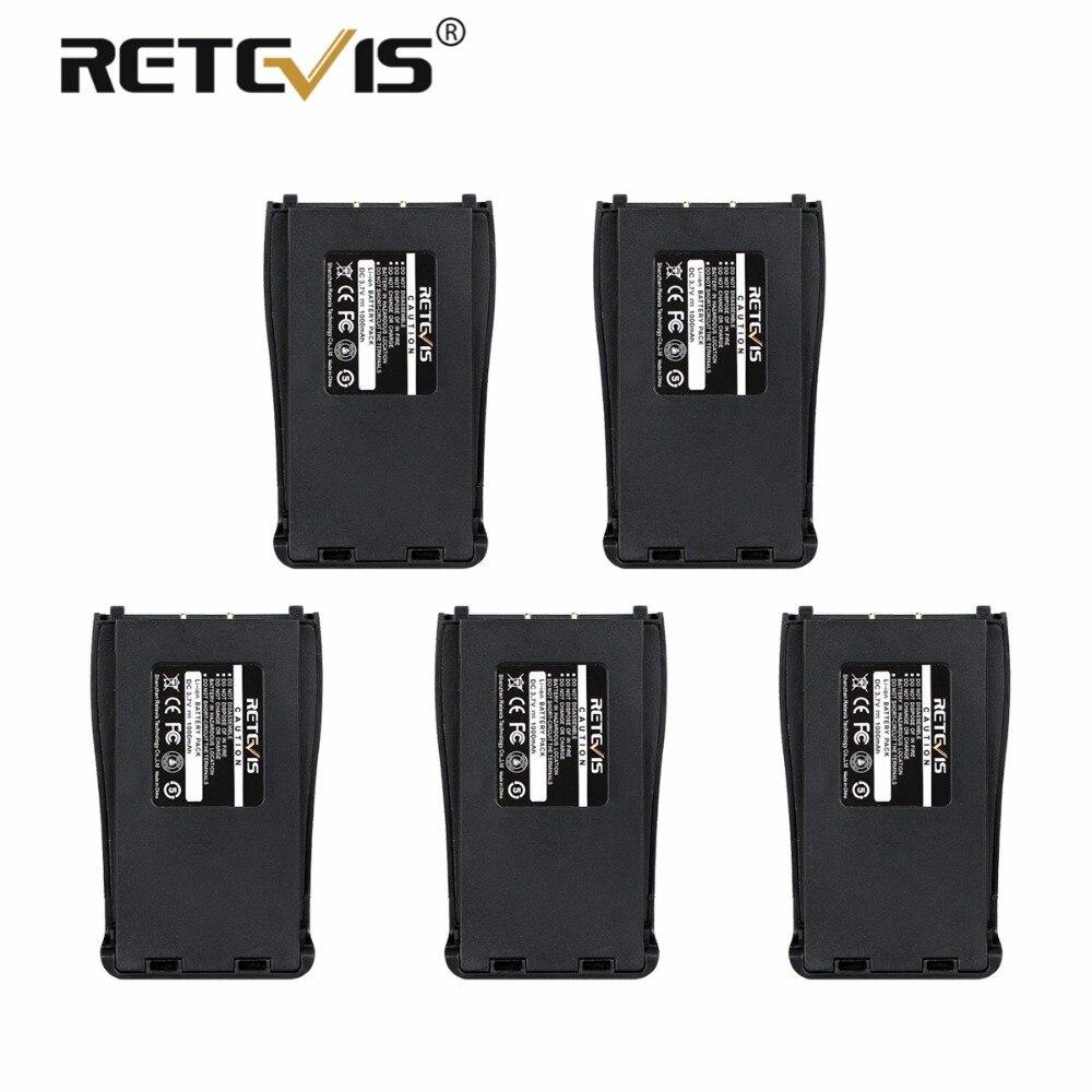 5 pcs 100% Nouveau Retevis 1000 mah Li-ion Batterie DC 3.7 v Pour Baofeng Bf-888S 888 s Talkie Walkie Retevis h-777 H777 Batterie à Moscou