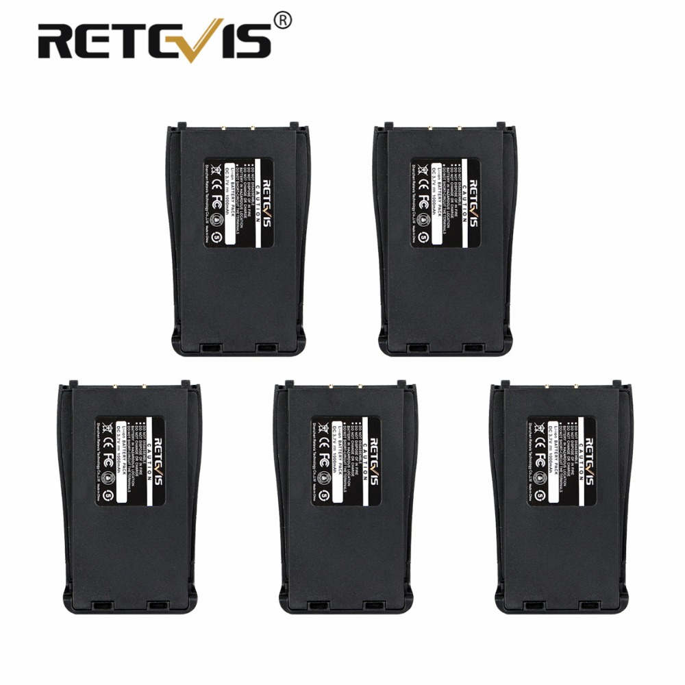 5pcs 100% New Retevis 1000mAh Li-ion Battery DC 3.7V For Baofeng Bf-888S 888S Walkie Talkie Retevis H-777 H777 Battery In Moscow