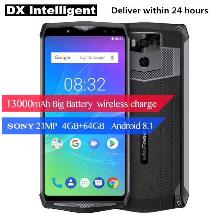 "Ulefone Мощность 5 5S 6,0 ""FHD 13000 мАч 5 В/5A Quick Charge MTK6763 Восьмиядерный P23 4 ГБ + 64 ГБ Android 8,1 21MP двойной назад камеры смартфона"