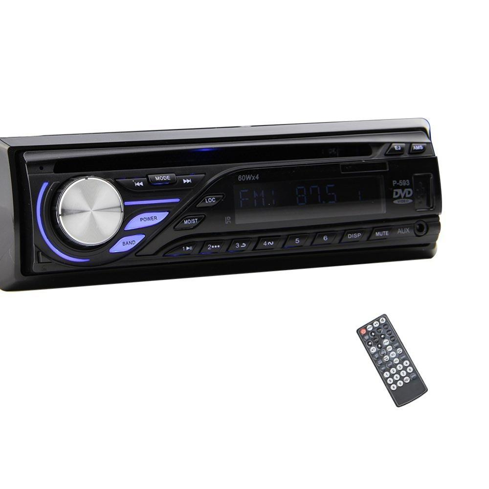 single din car radio stereo with front aux input in dash. Black Bedroom Furniture Sets. Home Design Ideas