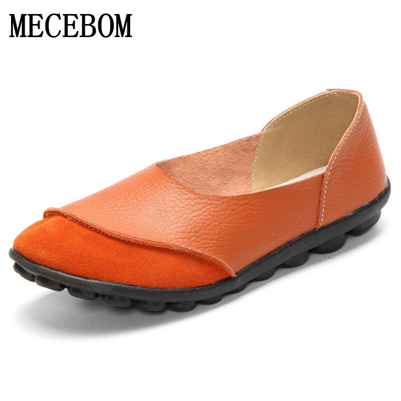 2018 Spring New Fashion  Leather Woman Flats Moccasins Comfortable Woman Shoes Cut-outs Leisure Flat Woman Casual Shoes 978W 2017 autumn fashion real leather women flats moccasins comfortable summer ladies shoes cut outs loafers woman casual shoes st181