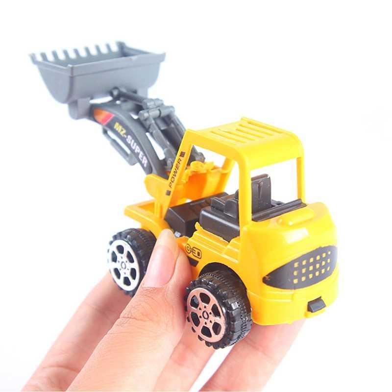 1 Pcs Lucu Mini Kendaraan Rekayasa Excavator Bulldozer Model Mobil Mainan untuk Anak-anak