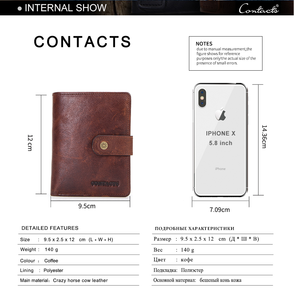 HTB1JHtBas vK1RkSmRyq6xwupXa3 - CONTACT'S genuine leather RFID vintage wallet men with coin pocket short wallets small zipper walet with card holders man purse