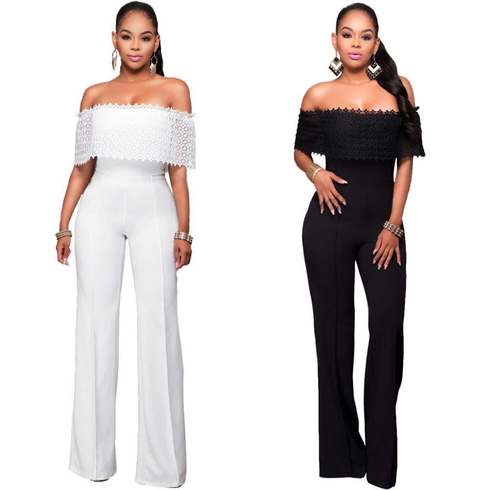 2017 Europe Brand Fashion Sexy Rompers Womens Jumpsuit Bodycon Bodysuit Backless Off Shoulder Party Jumpsuits Women Playsuit