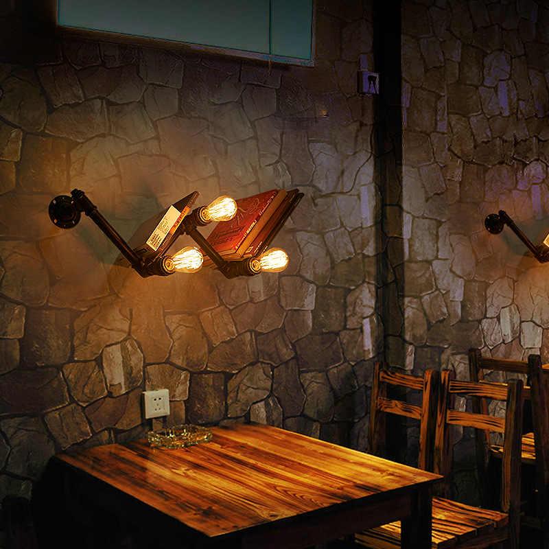 Настенный Лофт-светильник железная водопроводная лампа Декор Светильник индустриальный светильник винтажный Ретро американский спальня светильник для учебы