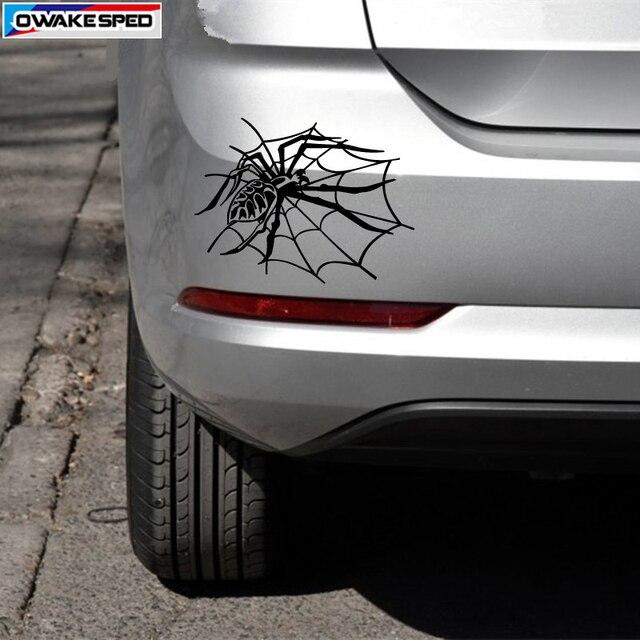 Cartoon Spider Car Vinyl Sticker Body Tail Tank Decorative Decal Sport Racing Styling For Toyota Honda