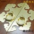 115 MM Chinês maçaneta Da Porta cobre decorado superfície montada único furo de bronze do armário de madeira de Móveis armário armário punho