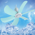 6 leaf blades scilent ventilador bedroom hanging mosquito net ceiling fan energy saving 7W ventilator plug adpter send free