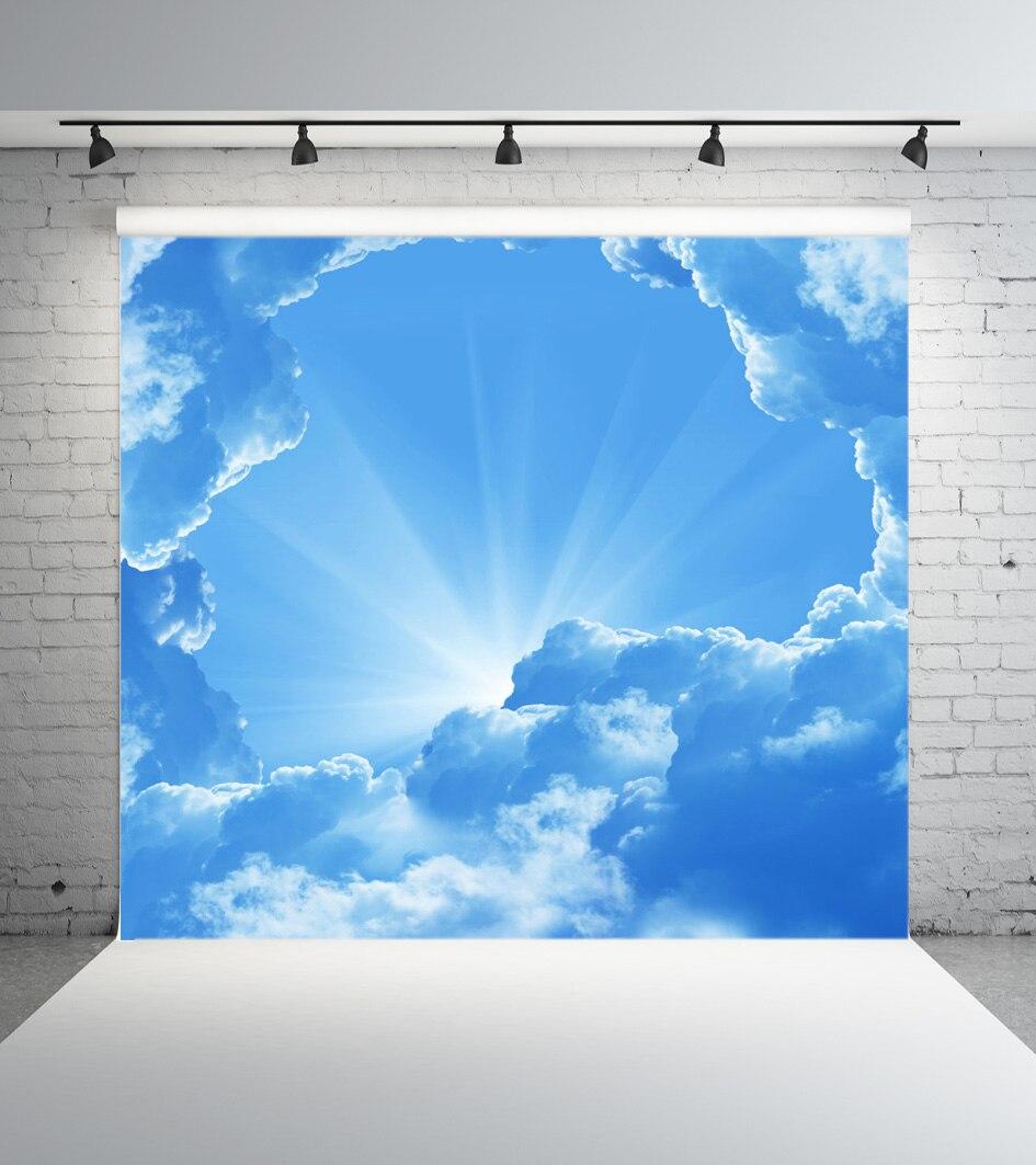 SHANNY 10x10ft ciel et nuage vinyle personnalisé photographie fond Prop mousseline fond JTY-248