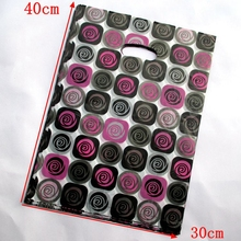 100pcs small plastic gift bags roses flower color Pouches for jewelry Boutique 40*30cm154061