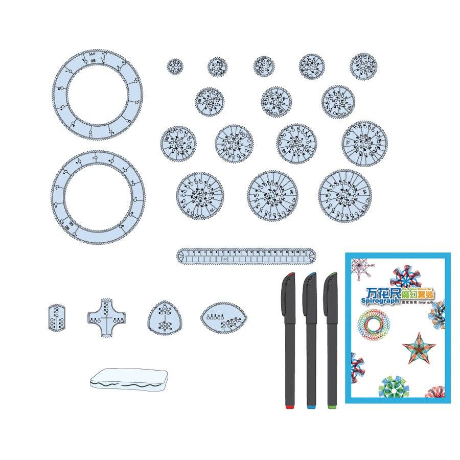 Spirograph Drawing toys set 20 Accesorios Creative Draw Spiral Design - Educación y entrenamiento - foto 2