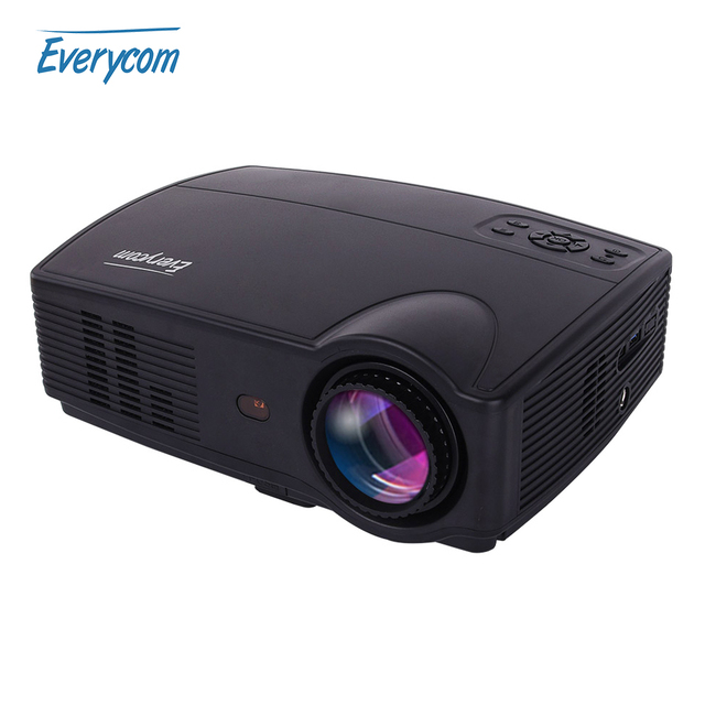 Hd Projector Full Color 720p 2400 Lumens Digital Tv Single: Aliexpress.com : Buy Everycom X9 LED HD Projector 3500