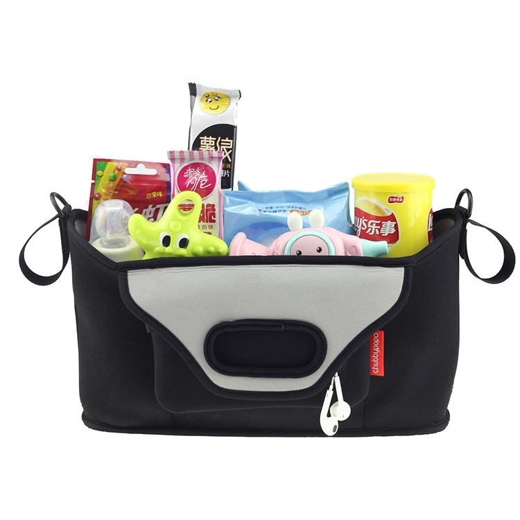 Stroller Organizer Caddy Universal Fit Diaper Bags Hangs Straight Stroller Storage For Drinks,phone,toys,diapers Neoprene