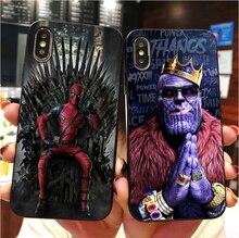 Marvel DC comics fer homme spider man batman de téléphone TPU souple étui pour iphone MAX XR XS X10 5 5 S 5SE 6 6splus 7 7plus 8 8plus