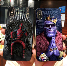 Marvel dc comics homem de ferro homem aranha batman macio tpu caso de telefone para iphone max xr xs x10 5 5S 5se 6 6 splus 7 mais 8 8 plus
