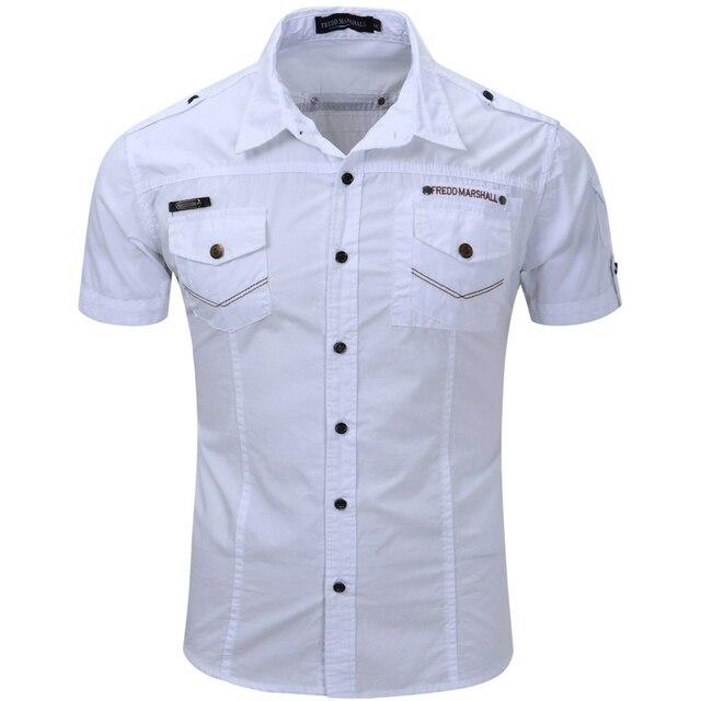 2016 Novo Mais o Tamanho S-3XL Camisas do Desenhador Dos Homens de Carga Marca Camisa Masculina Moda Casual Chemise Homme T0051