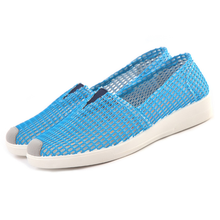 Women Flat Shoes Loafers Casual Shoes Platform Increased Internal 2018 Summer  Shallow Mesh Hollow Comfortable Breathable цены онлайн