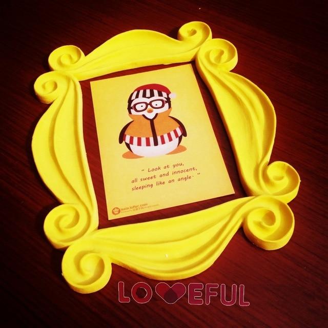 new friends yellow peephole frame as seen on monicas door on friends tv show