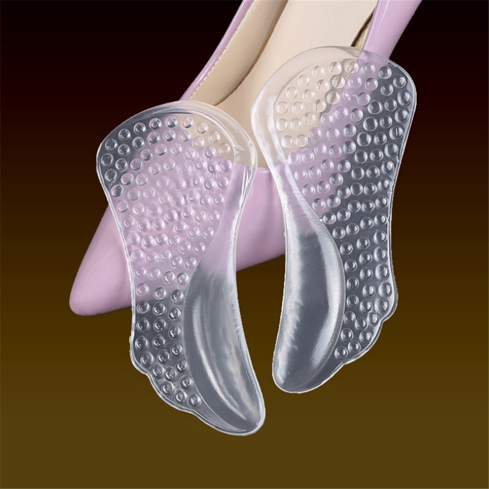 1 Pair Silicone Insoles For Women Shoes Orthotic Arch Support Gel Pads Non-slip Pain Relief Flat Feet Shoes Insoles Transparent demine 3d silicone gel orthotic insoles for flat feet arch support massage plantillas fascitis shoes pad foot pain relief insole