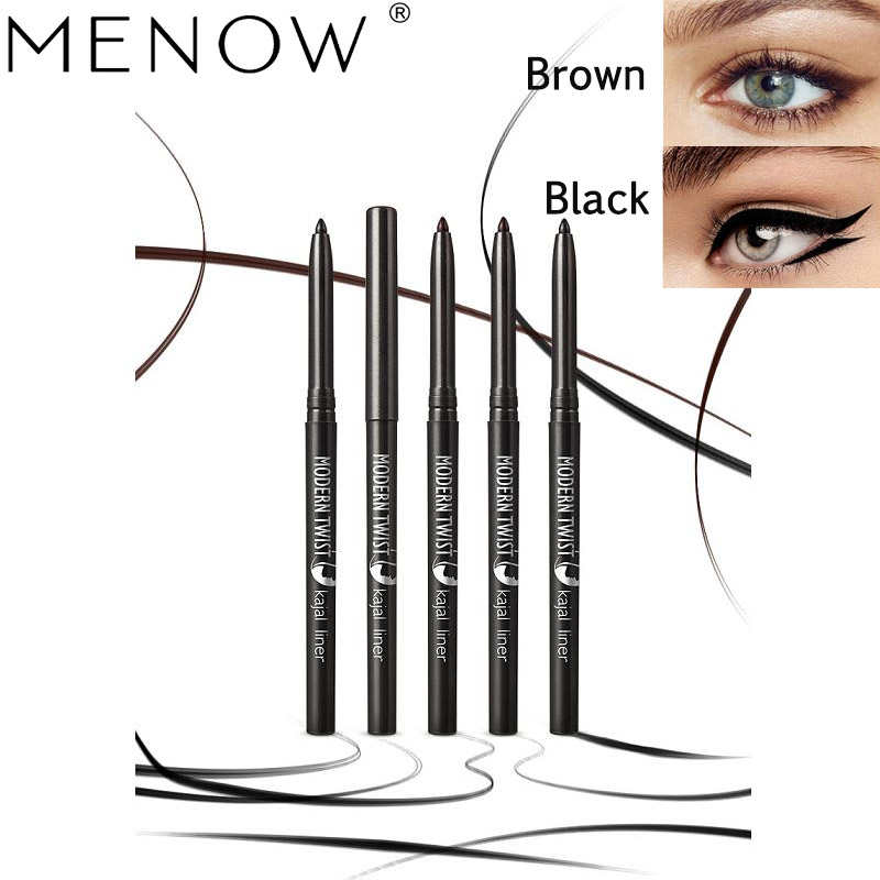 Eyeliner M.n Brand Waterproof Black Brown Crystal Kajal Eye Pencil Super Gliding Eyeliner Longlasting Eyeliner Pen Makeup Tool Buy One Give One