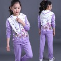 Fashion designer new autumn spring girls winter tracksuit set sports suits kids