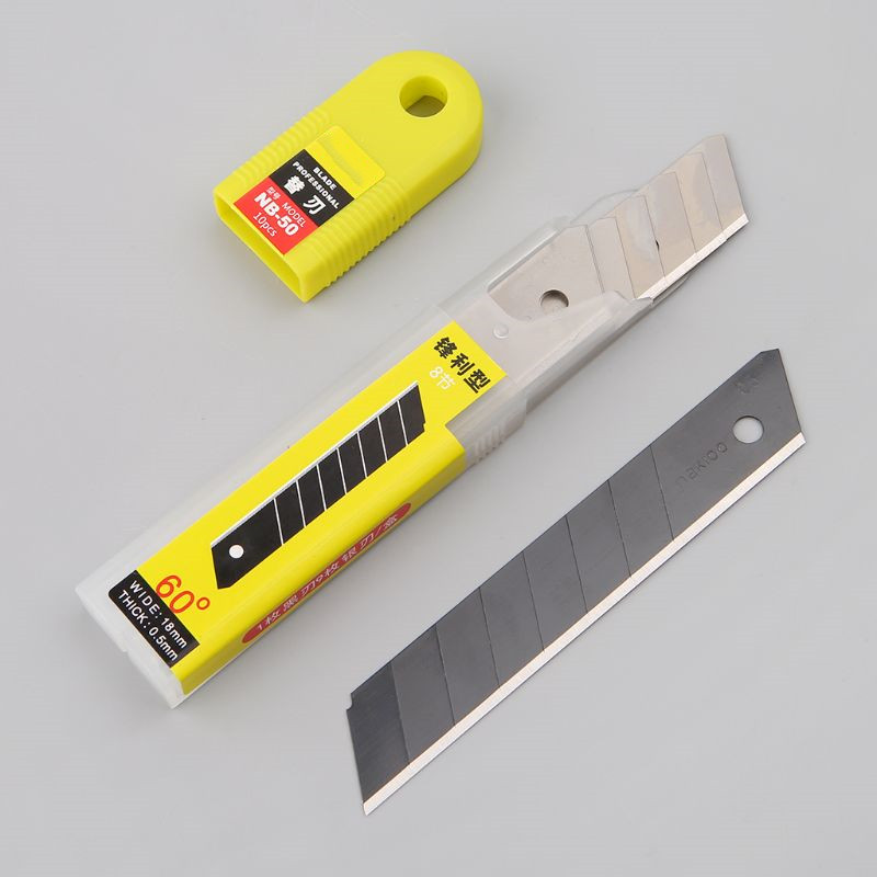 10pcs 30 degree Snap Off Replacement Razor Blades 9mm Shaving Blade Utility Knife Tools Carbon Steel NB-39/NB-41/NB-50 6